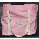 Pink ShelfBag can carry as much as you can carry. Eco-friendly dyes look great on organic cotton canvas.