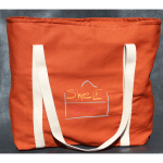 ShelfBag in sweet potato orange wants to go tailgating. It will hold a case of beer and all the chips and dips you want to carry. Really!